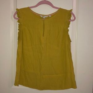 ✨Boden✨ Mustard color sleeveless tank! Sz 10